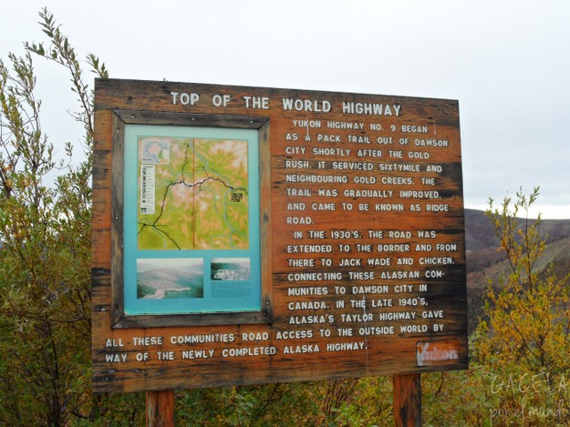 Cartel del Top of the World Highway, Canadá